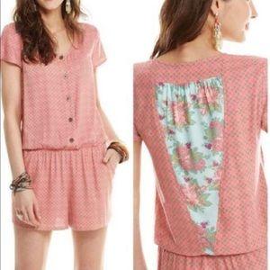 Matilda Jane   Romper Solstice Summer Pink Pockets